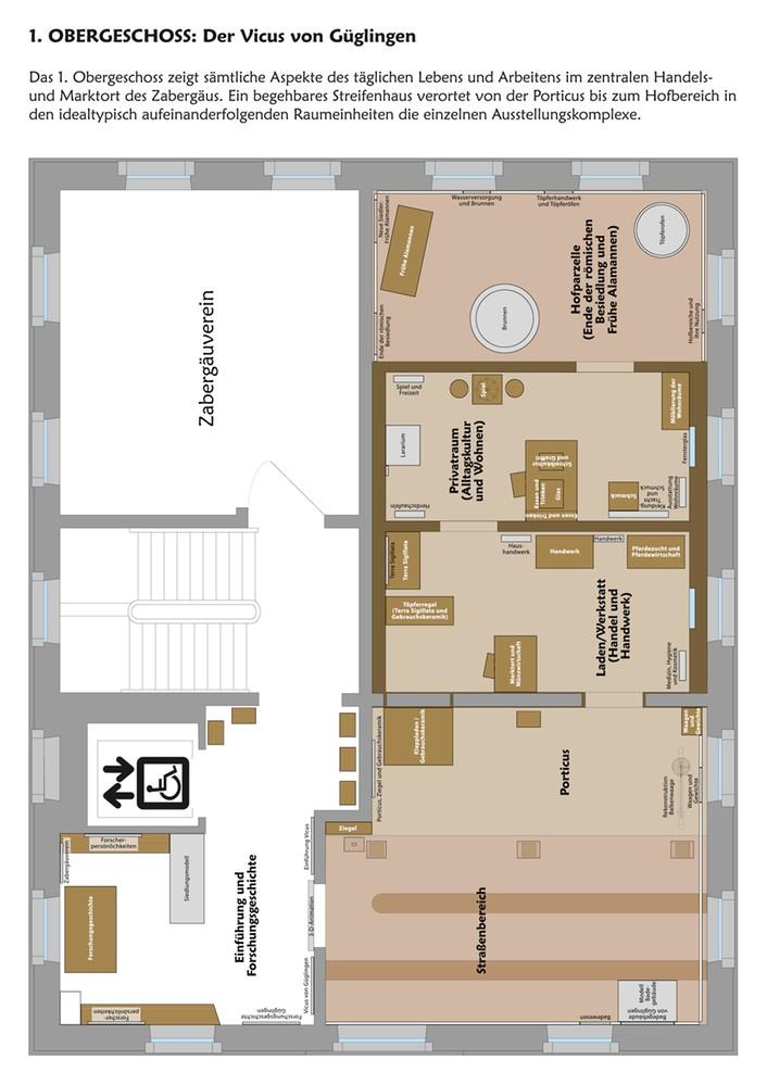 r mermuseum g glingen 1 obergeschoss. Black Bedroom Furniture Sets. Home Design Ideas